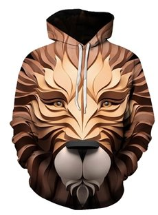 Beddinginn Animal Thick Print Pullover Fall Men's Hoodies