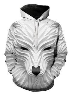 Beddinginn Print Color Block Pullover Thick Casual Men's Hoodies