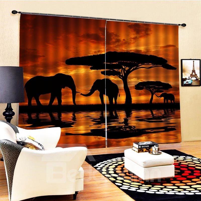 Beddinginn Night Scenery European Ultraviolet-Proof Curtains/Window Screens