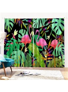 Beddinginn Flamingo Ultraviolet-Proof Creative Curtains/Window Screens