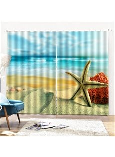 Beddinginn Modern Ultraviolet-Proof Beach Curtains/Window Screens