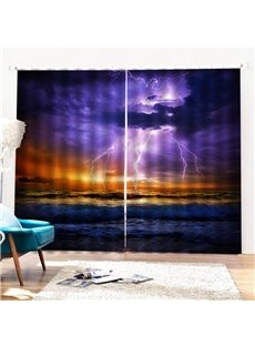 Beddinginn Modern 3D Sea Ultraviolet-Proof Curtains/Window Screens