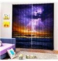 Beddinginn Modern 3D Sea Ultraviolet-Proof Curtains/Window Screens
