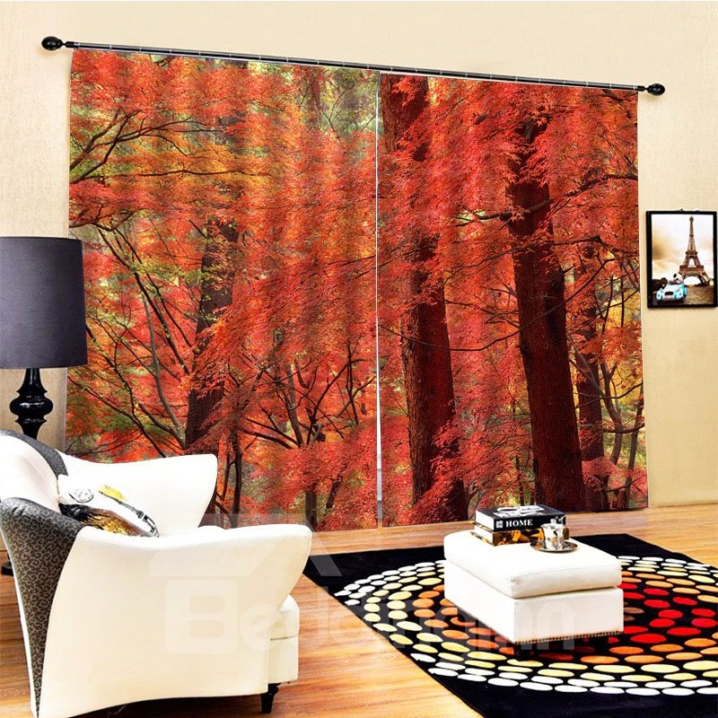 Beddinginn Landscape Blackout Modern Curtains/Window Screens