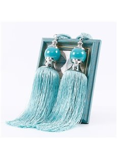Beddinginn Paired Lantern Single Hanging Ball Tassels Curtains Buckle