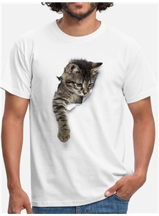 Beddinginn Short Sleeve Animal Print Casual Men's T-shirt