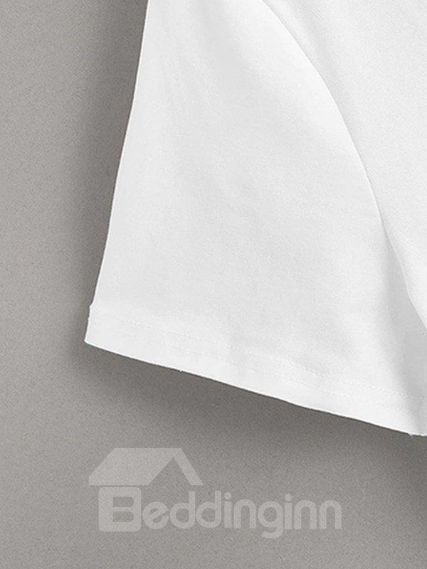 Beddinginn Casual Short Sleeve Animal Print Men