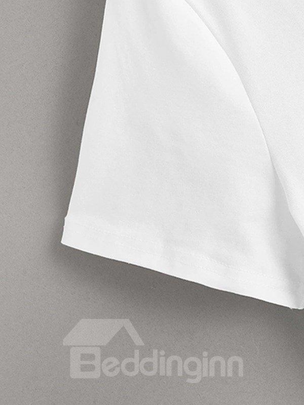 Beddinginn Gradient Casual Short Sleeve Print Men