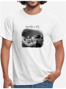 Beddinginn Hand Painted Straight Casual Print Men's T-shirt