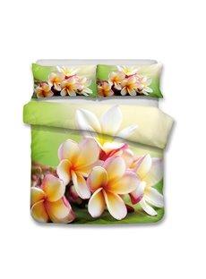 Plumeria Rubr Cv Acutifolia Printed 3-Piece Bedding Sets/Duvet Covers