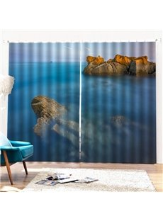 Beddinginn Curtain Sea Modern Blackout Curtains/Window Screens