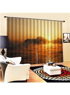 Beddinginn Modern Blackout Landscape Curtains/Window Screens