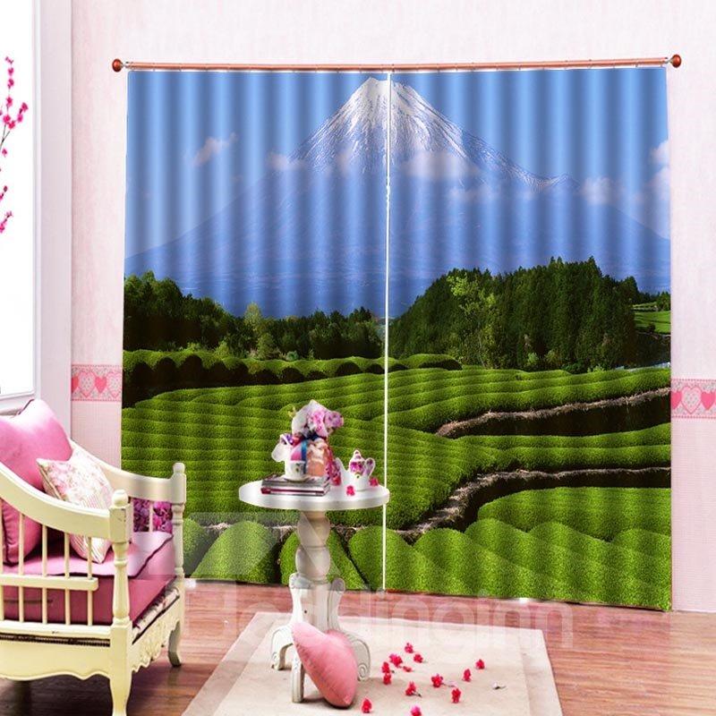 Beddinginn Pastoral Landscape Blackout Curtains/Window Screens