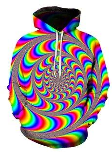 Beddinginn Paisley Print Thick Pullover Fall Men's Hoodies