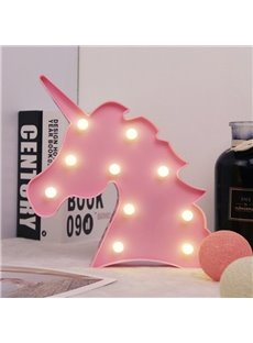 Unicorn Gifts Light Unicornio Party Supplies Lamp Battery Operated LED Night Lights Wall Living Room,Bedroom,Home, Christmas,Party as Kids Gift (pink unicorn)