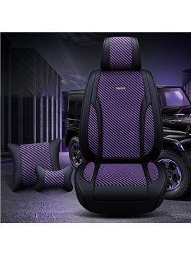 Sports Aesthetic Cool Colors Extrasensory Leather & Ice Silk Wear-Resisting Breathable 3D Universal Fit Seat Cover