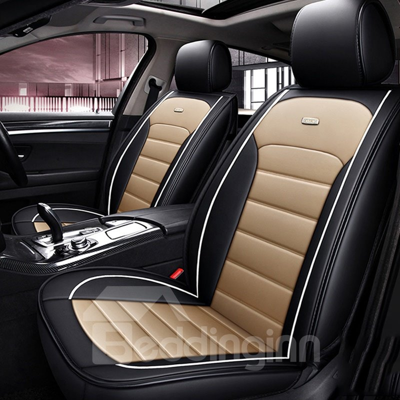 Business Type Luxurious Comfortable Wear-Resisting Breathable PVC Leather All Seasons Universal Fit Seat Cover