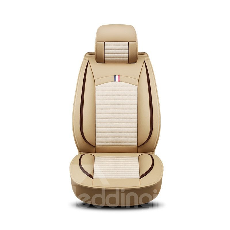 Simple Style Pure Color Wear-Resisting Breathable And Comfortable PVC Leather All Seasons Universal Fit Seat Cover