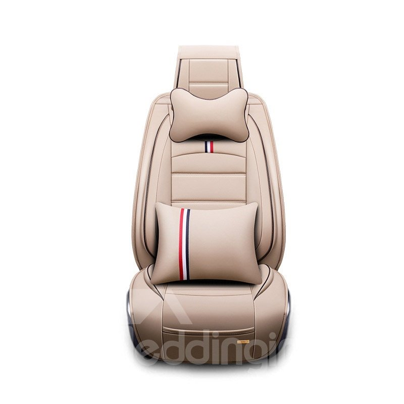Fashionable Style Polyester Leather Comfortable And Wearable Airbag Compatible Universal Fit Seat Cover