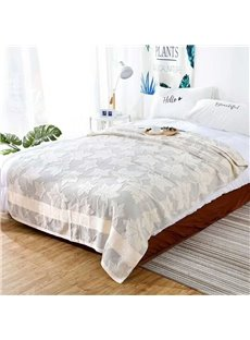 Ivory Pink Blue Green Coffee Five Colors Optional Maple Leaf Pattern Bedding Blanket