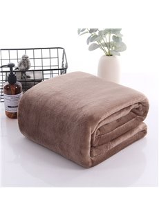 Coffee Pink And Blue Three Colors Optional Polyester Thick Blanket