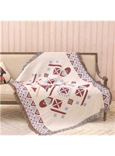 Geometry In Red And Blue Double-sided Blanket