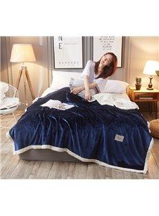 Navy Blue Polyester Bedding Blanket