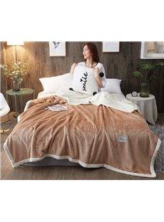 Camel Colored Polyester Bedding Blanket