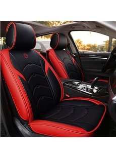 5 Seats Sports Style Pu Leather Environment-Friendly And Pollution-Free Material Unfadingly Easy To Clean Universal Fit Seat Cover Suitable For Most Cars