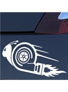 Funny Cartoon Characters The Snail Is Flying Hot Popular Car Sticker