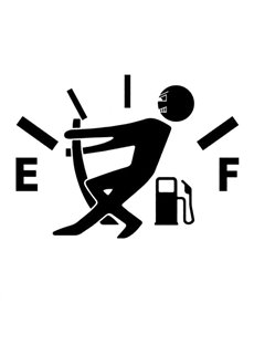 Warning Fuel Shortage Funny Car Sticker