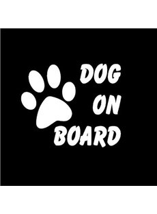 Dog On Board Warning Mark Car Sticker
