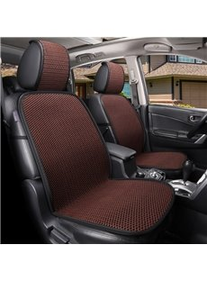 Sport Style Polyester Leather/Ice Silk Super Breathable Single Car Seat Covers