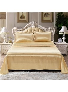 Champagne And Pink Two Colors Optional Printed Imitated Silk Fabric4-Piece Bedding Sets/Duvet Covers