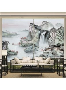 Chinese Style Ink Landscape Printing Roller Shades