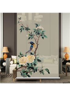 The Elegant Lark Standing on the Branch Printing Roller Shades