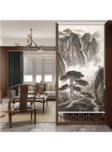 Chinese Style Mountains and Greeting Pine Printing Roller Shades