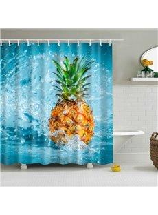 Summer Beach Pineapple Shower Curtain Bathroom Decor