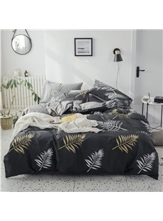 Abstract Patterns of Osmunda Japonica 4-Piece Cotton Bedding Sets/Duvet Covers