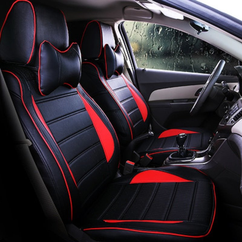Sport Style Wild&Elegance Color Block Superfine Fibre PU Leather Soft And Breathable Custom Fit Seat Cover