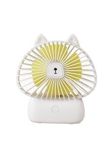 Kitty Model Colorful Night Lights Noiseless Wind Stability USB Fans