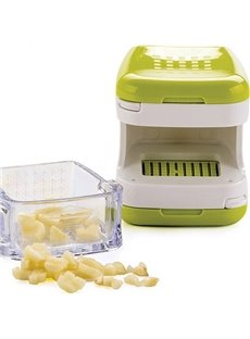 Kitchen Innovations Garlic Chopper with Garlic Peeler & Storage Container in Green