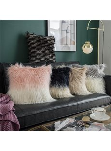 Luxury Soft Two-color Plush Square Throw Pillowcase 5 Colors Optional