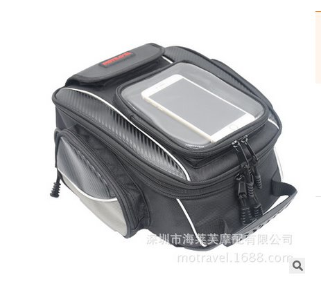 Motorcycle Tail Bag Back Seat Luggage Travel Riding Pack with Reflective Stripe