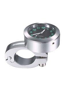 Motorcycle Motor Bike Handlebar Bar Mount Dial Clock Digital Time Gauge Watch