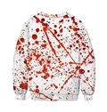 Long Sleeve Round Neck Bleeding Heart Painted 3D Casual Men