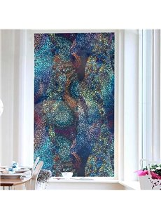 Colorful Pieces Painted Window Film No-glue Glass Static Sticker