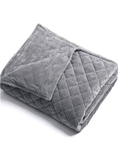 100% Cotton Luxurious Grey Removable Flannel Duvet Cover For Weighted Blanket