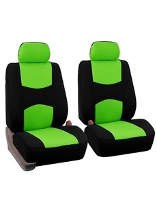 Two Cloth Fabric Front Car Seats Covers Nine Kinds Of Color Comfortable Breathable And Easy To Clean