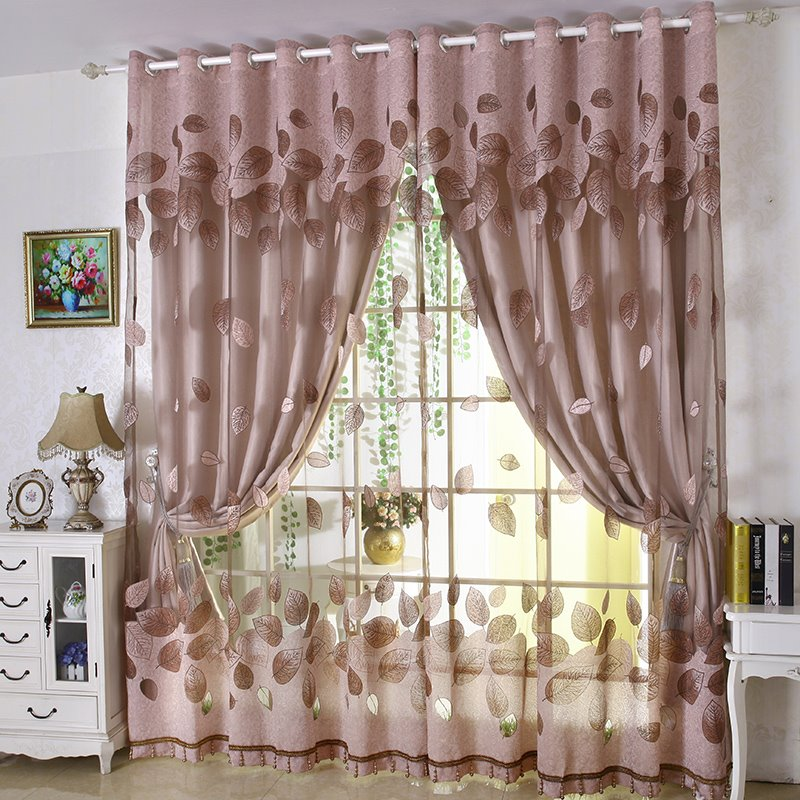 Embroider   Blackout   Curtain   Floral